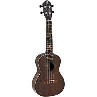 Ortega Model RUCOAL Transparent Black Concert Size Okoume Wood Ukulele