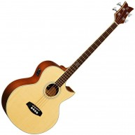 Ortega Guitars D1-4  Acoustic Electric Bass with Solid Spruce Top - Blem #X