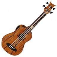 Ortega Guitars LIZARD-BS-GB Lizard Series all Mahogany Uke Bass   - Blem #X