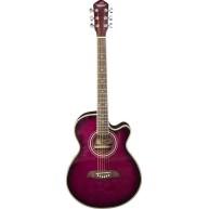 Oscar Schmidt OG10CEFTPB - Concert Acoustic Electric Purpleburst Guitar - D