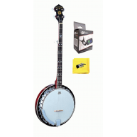 Oscar Schmidt OB5 Gloss 5 string banjo w/resonator with Effin Tuner Bundle