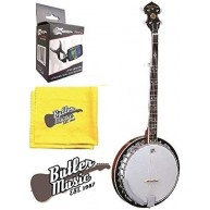Oscar Schmidt OB5E Acoustic Electric 5-String Banjo with Effin Tuner and Cl