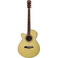 Oscar Schmidt OG10CENLH Left Handed Natural Finish Acoustic Electric Guitar