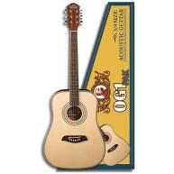 Oscar Schmidt OG1PAK 3/4 Size Acoustic Guitar Pack with Gig Bag and Strap -