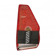 Oscar Schmidt Model OS21CQTR Flame Red Acoustic 21 Chord Classic Autoharp