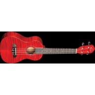 Oscar Schmidt Model OU2TFTR Transparent Red Flame Mahogany Tenor Size Ukule