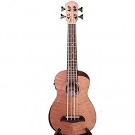 Oscar Schmidt Model OUB800K Flame Maple Acoustic Electric Ukulele Bass