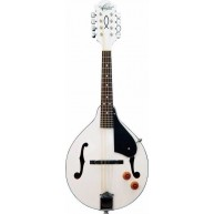 Oscar Schmidt Model OM10EWH A Style White Acoustic Electric Mandolin - NEW