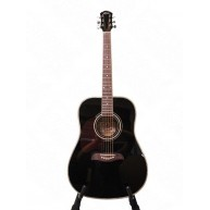 Oscar Schmidt OG2BLH-A Black Left Handed Acoustic  Guitar CITES Safe For Ex
