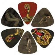 Pack of 6 Perri's Snake Theme Guitar Picks in Collectible Clamshell #LP-PL1