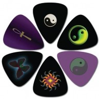 Pack of 6 Perri's Medium Celluloid Guitar Picks in Collectible Clamshell #L