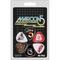 Maroon 5 Officially Licensed Guitar Picks 6 Pack Collectible Perri's #6MARR