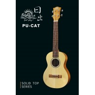 PukanaLa Model PU-CAT Solid Spruce top Series Tenor Size Ukulele