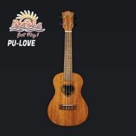 PukanaLa Model LOVE-T Tenor Ukulele with Sapele Mahogany Top, Back and Side