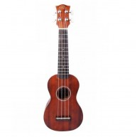 PukanaLa Model PU11S Soprano Ukulele with Sapele Mahogany Top, Back and Sid
