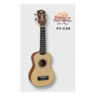 PukanaLa Model PU-CAS Solid Spruce top Series Soprano Size Ukulele