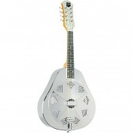 Recording King Model RA-998 Metal Body Acoustic Nickel Plated Resonator Man