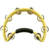 Rhythm Tech RT1050 Original Tambourine w/ Nickel Jingles, Yellow Made in US