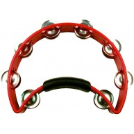 Rhythm Tech Tambourine RED INCH RT 1030 with Nickel Jingles Made in USA