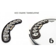 KEO PERCUSSION Model KEO-SNR-TAM SNARE TAMBOURINE WITH 7 PAIRS OF JINGLES