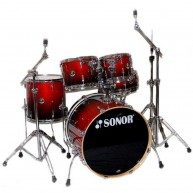 New Old Stock Sonor Force 2007 Stage2 5-Piece Drum Shell Kit in Amber Fade