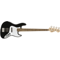 Squier by Fender Affinity Black Gloss 4-String Jazz Bass Guitar, Laurel Fre