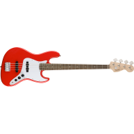 Fender Squier Affinity Series Jazz Bass 4-String Electric in a Race Red Fin