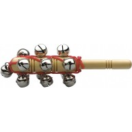 Stagg Model SLBM-13T Sleigh Bell Stick with 13 Jingle Bells