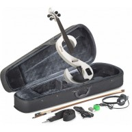 Stagg EVN 4/4/WH Snow White Electric Violin Package w/ Case, Headphones and