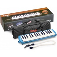 Stagg Model MELOSTA32 BL - Blue 32 Key Keyboard Melodica w/Soft Case