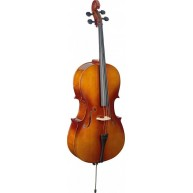 Stagg VNC-4/4 L - Full sized Spruce & Maple Cello with carrying Bag & Bow -