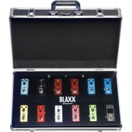 Blaxx Powered Pedal Board + 12 Pedals - Delay, Chorus, Flanger, Tuner, and