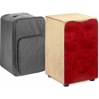 Stagg Medium Sized Red Cajon Drum With Bag -  Model CAJ-50M RED