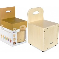 Stagg Kid's Cajon Drum Stool Combo - Natural With Back Rest - Model CAJ-KID