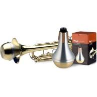 Stagg Model MTR-S3B Aluminum Straight Mute for Trumpet, Brass Bottom