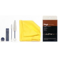 Stagg SCK-PRO-CL Pro Clarinet Cleaning Kit with Swab, Brushes, Cloth and Mo