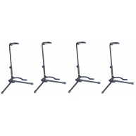 Lot of 4 Stagg SG50BK Sturdy Black Tripod Guitar Stands With Folding Legs
