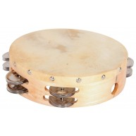 Hw products T8HD 8 inch Tambourine with Two Rows of Jingles and a Cowhide H