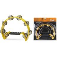 Stagg TAB-2-YW- Half Moon Cutaway Plastic Tambourine w/16 Jingles - Yellow
