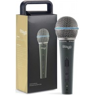 Stagg SDM60 Dynamic Beta 58 Style Vocal Microphone with XLR Cable & Case