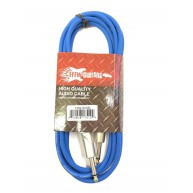 Effin Guitars FNG10CBL Blue 10 Foot Pro Guitar Cable with Noise Free Connec