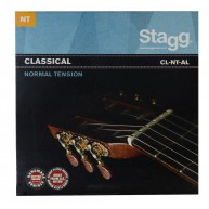 Stagg CL-NT-AL Nylon and Silver Plated Wound Set of Strings for Classical G