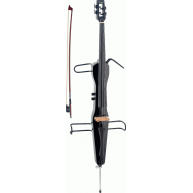 Stagg ECL 4/4 BK - Black Finish Electric Cello with Bow and Carrying Bag -