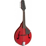 Stagg Model M20 RED A Style Red Finish Bluegrass Mandolin with Geared Tuner