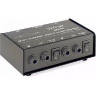 Stagg Model SDI-ST Dual Channel Direct Injection DI Box With Stereo/Mono Sw