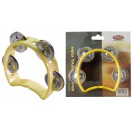 Stagg Model TAB-MINI Yellow 4 Jingle Mini Size Professional Tambourine