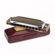 Suzuki Folkmaster 1072-E Standard Beginner Diatonic Blues Harmonica Key of