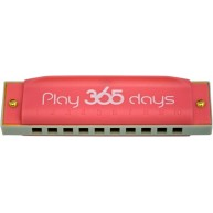Suzuki PlayPals Harmonica Key of C  Red - Play 365 Days ! #P-365-1RD