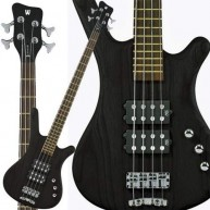 Warwick Rock Bass Corvette $$ 4 String Bass in Nirvana Black w/Wenge board