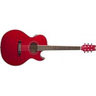 Washburn EA9FTR Festival Series Transparent Red Acoustic Electric Guitar -B